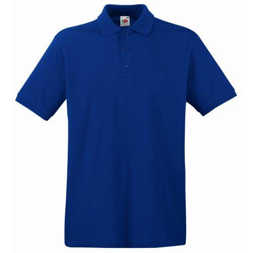 Fruit of the Loom Herren Poloshirt S Blau / Marineblau