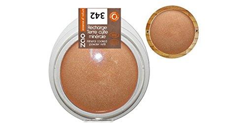 ZAO REFILL Mineral Cooked Powder 342 kupfer-bronze Bronzer-Nachfüller (Bräunungspuder) schimmernd (bio, vegan, Naturkosmetik) 111342