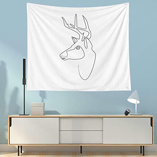 WERT Tapiz Abstracto Colgante de Pared Manta de Arte Simple Tela de Fondo Blanco Decoración del hogar para Sala de Estar Dormitorio Toalla de Playa A4 150x130cm