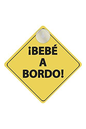 BC Corona INT40110 Cartel Bebe a Bordo con Ventosa para Coche
