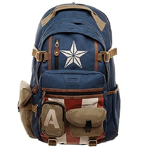 PRETAY Captain America School Bag per Scuola e Tempo Libero Marvel Avengers Captain America Zaino Perfetto per Scuola e Tempo Libero Borsa per Computer Spiderman Sorpresa Zaino