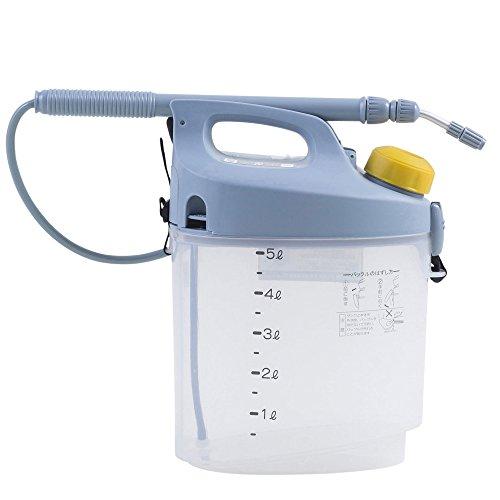 工進(KOSHIN) 乾電池式 噴霧器 タンク 5L ガーデンマスター GT-5S 洗浄スイッチ付 単一 電池 4本 防除 消毒 散布 肩掛け 家庭 お庭 手軽 簡単
