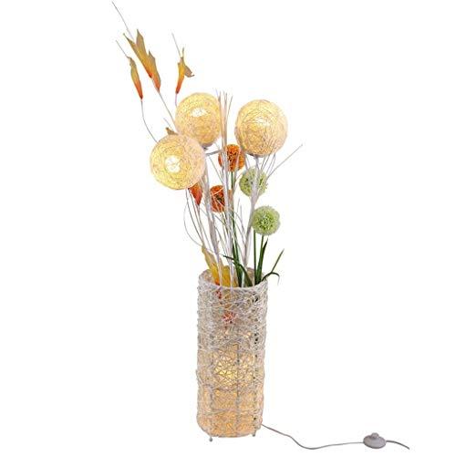 * Staande lamp rotan lamp Europese rotan bloem handgeweven woonkamer hoekbank slaapkamer nachtkastje LED afstandsbediening lamp pastorale vloerlamp