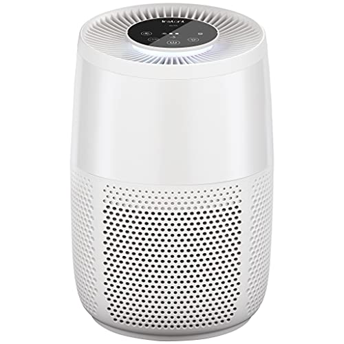 Instant Air Purifier, Helps remove 99.9% of viruses (COVID-19), bacteria, allergens, smoke; advanced 3-in-1 HEPA-13 filtration with plasma ion technology, Small Room, Pearl