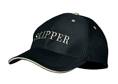 modAS Baseball Cap mit Schriftzug Kappe Schirmmütze Basecap, Aufdruck:Skipper