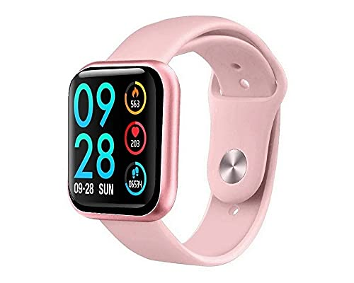 Smartwatch P80 Original Touch Screen Rosa + Pulseira Milanese Magnética + + App Da Fit + Nota Fiscal