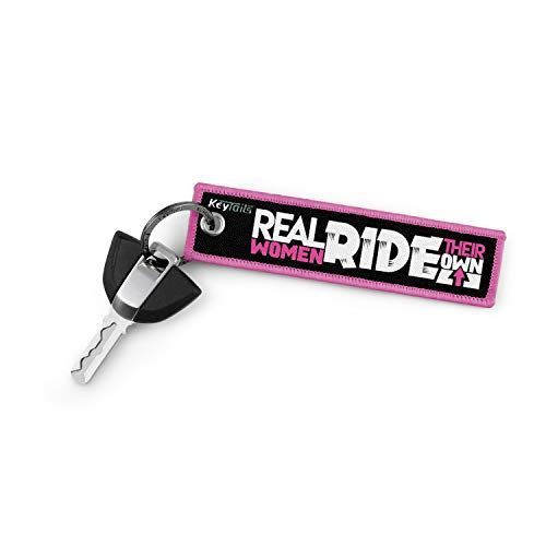 KEYTAILS Keychains, Premium Quality Key Tag for Motorcycle, Scooter, ATV, UTV [Real Women Ride Their Own]