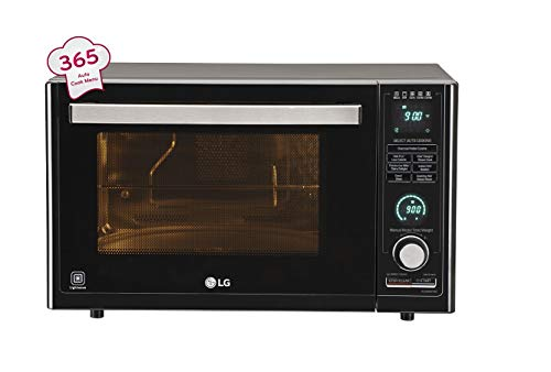 LG 32 L Convection Microwave Oven (MJ3286BFUM, Black, With Starter Kit)
