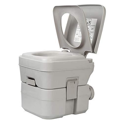 XIMENG Portable Toilet for Camping Traveling Outdoor Recreational Activities Portable Potty for RV Camper Van Trailer Motorhome Truck 5.2 Gallon
