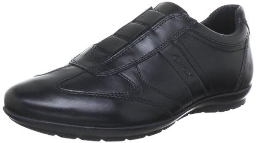 Geox U Symbol, Zapatos de Cordones Derby para Hombre, Negro (BLACKC9999), 41 EU