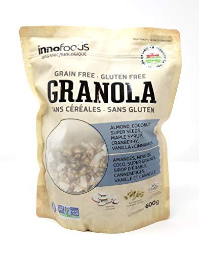 InnoFoods Organic Granola (Gluten Free, Non-GMO, Grain Free, Kosher Certified), 600g (1 Pack)