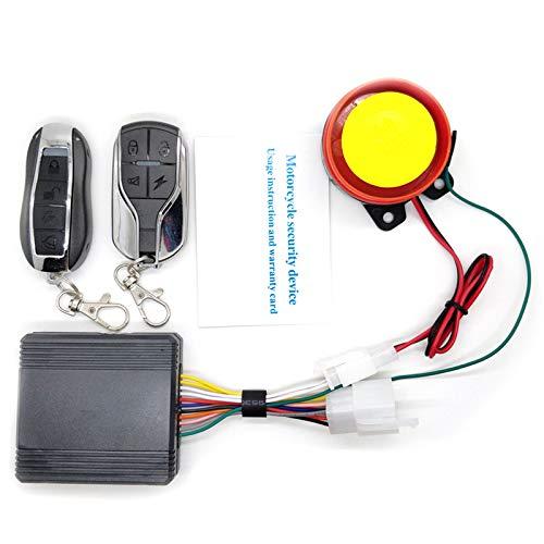 REFURBISHHOUSE Sistema De Alarma para Bocicleta Motocicleta Universal Sistema De Alarma De Seguridad Antirrobo para Scooter Alarma + Arranque del Motor De Control Remoto Altavoz De Moto