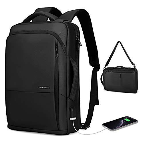 MARK RYDEN Business Laptop Backpack Multi-Function 3 in 1 Water-Proof Crossbody Bag Handbag for Men and Women with USB Port fit 15.6inch Laptop