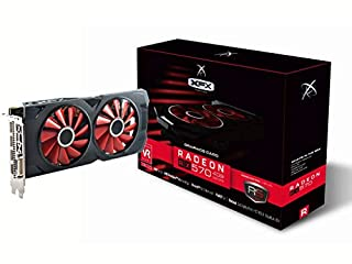 XFX RS Tarjetas gráficas XXX Edition RX 570 4 GB OC + 1284 MHz, DDR5 3 x DP, HDMI, DVI rx-570p4dfd6 (B06Y64PV2X) | Amazon price tracker / tracking, Amazon price history charts, Amazon price watches, Amazon price drop alerts