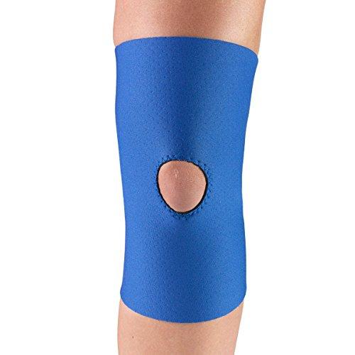 OTC Knee Support, Open Patella, Neoprene, Blue, Small