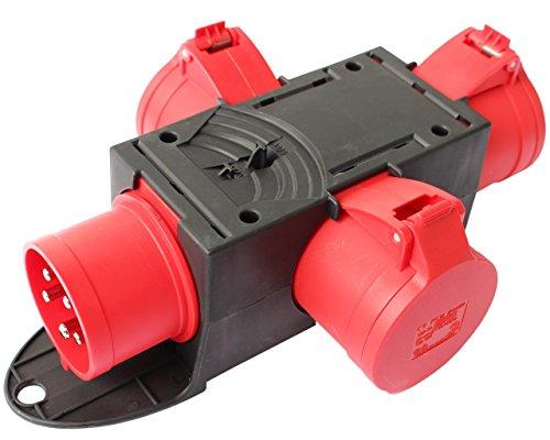 CEE Adapter Stromverteiler CEE 32A 400V - 3 x 32A Kraftstrom Starkstrom Verteiler