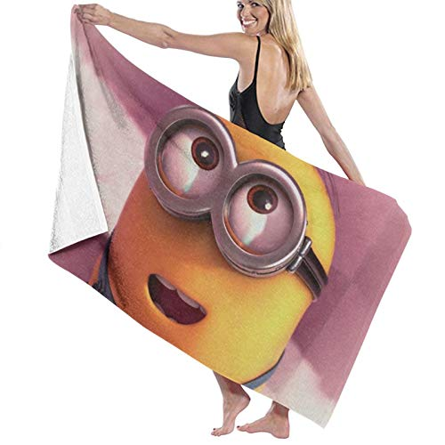 Toalla de playa Minions de algodón, microfibra, absorbente, toalla de baño, toalla de secado rápido, manta para mujeres, niños