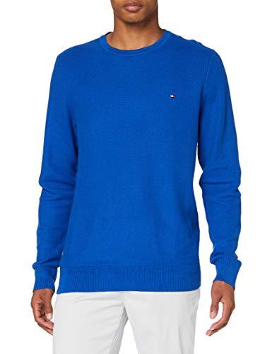 Tommy Hilfiger Herren Honeycomb Crew Neck Pullover, Cobalt, XL