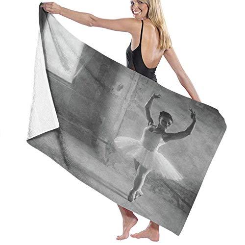 Grande Suave Ligero Microfibra Toalla de Baño Manta,Pintura de Bailarina de Ballet Bailarina,Hoja de Baño Toalla de Playa por la Familia Hotel Viaje Nadando Deportes Decoración del Hogar,52' x 32'