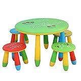 N&O Juego de Silla de Escritorio de Estudio para niños Juego de Mesa y Silla para niños Muebles para niños pequeños para Comedor Pintura Sala de Juegos de Lectura (Color Verde Tamaño 70x47 / 28x25cm)