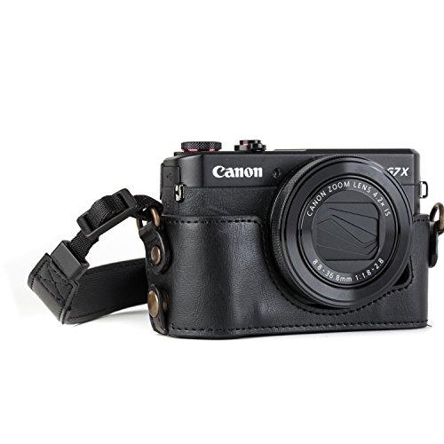 MegaGear MG951 Estuche para cámara fotográfica - Funda (Funda, Canon, PowerShot G7 X Mark II, Negro)