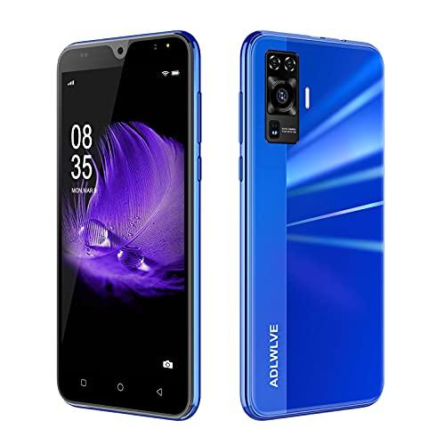 """Teléfono Móvil Libres 4G, Android 9.0 Smartphone Libre, 5.5"""" HD, 2GB + 16GB, Cámara 8MP, Batería 3600mAh, Smartphone Barato Dual SIM, Face ID Moviles Baratos y Buenos (2*SIM+1*SD) (Azul)"""