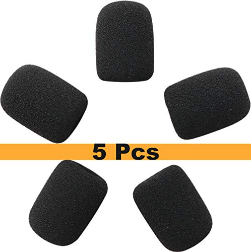 IoYoI Headset Mini Mic Cover Foam Lapel Microphone Windscreen Lavalier Pop Filters Studio Recording Equipment Live Sound Stage Gamming E-Sport E-Learning Online Meeting