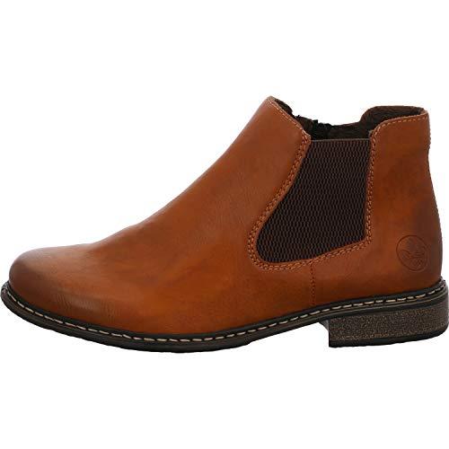 Rieker Damen Stiefeletten Z4994, Frauen Chelsea Boots, Women\'s Woman Freizeit leger Stiefel halbstiefel Bootie Damen,Cayenne/Brown,36 EU / 3.5 UK