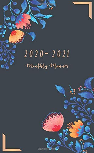Monthly Planner 2020 - 2021: 24 Month Calendar Organizer Diary | 2 Year Pocket Planner Wallet / Purse Size | January 2020 - December 2021 for Improve Productivity and Time Management Flower Cover