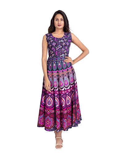Monique Brand Latest Jaipuri Maxi Long top Designer Frock for Women/Girls Traditional Dress