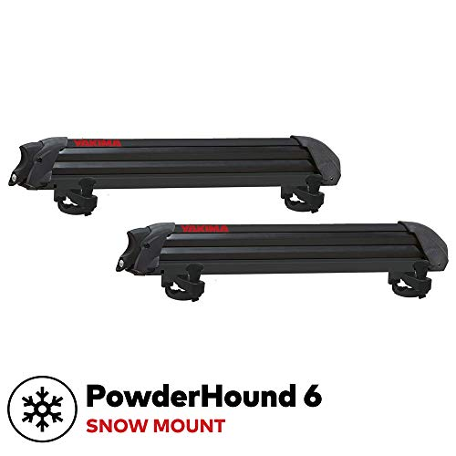 Yakima - PowderHound 6 Ski & Snowboard Mount, Fits Up to 6 Pairs of Skis or 4 Snowboards, Rides...