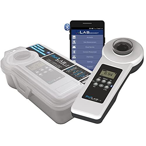 EW24 Special Edition: 13 in 1 PoolLAB® 1.0 elektronischer Wassertester mit 70 Testtabletten Bluetooth fähig