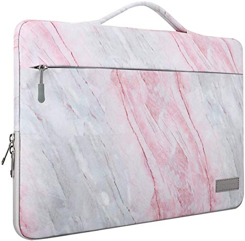 Fengzhuo 5.6 Inch Laptop Sleeve Case Compatible with 2019 MacBook Pro 16 inch, MacBook Pro 15.4', Surface Book 15, Notebook Carrying Bag Compatible with 15.6' Dell/Lenovo/HP - Pink (Pink)