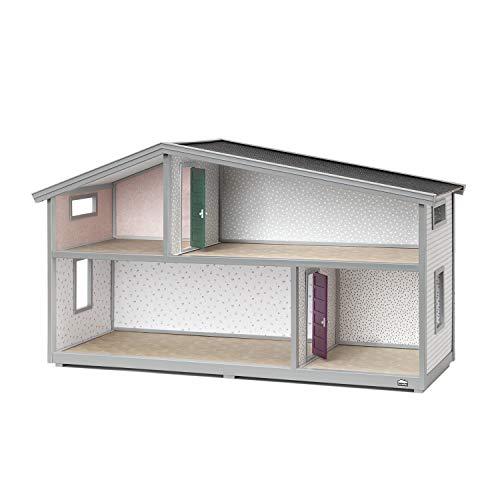 Lundby 60102100 - Puppenhaus Life - Bausatz - DIY - Puppenstube - Puppenvilla - 2-stöckig - 4 Zimmer - 75x26x39 cm - Miniaturhaus ohne Möbel und Puppen - ab 4 Jahre - für 11 cm Minipuppen 1:18