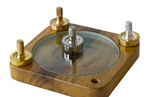 BCD Metal Spinning Tops and Spinning Top Base Set - Brass, Bronze, Aluminum, Stainless Steel...