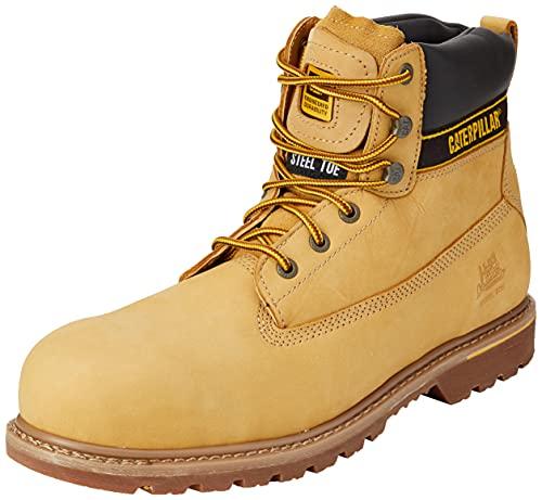 Cat Footwear Holton S3 HRO SRC, Bota Industrial Hombre, Honey, 51 EU