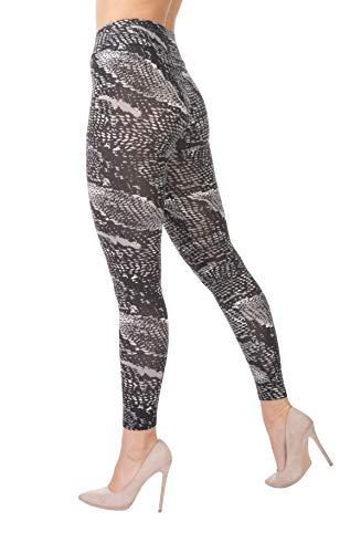 BeLady Thermo Leggings voor dames, enkellang van katoen met zachte warme binnenfleece, afslankbroek met hoge tailleband, vele patronen 36,38,40,42,44,46