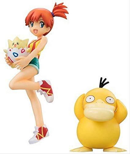 BINGFENGBINGFENG Pokemon Spielzeug Ketchup Pikachu Misty Psyduck Togepi Actionfigur-PVC Action Puppe-Wohnaccessoires-Autozubehör Größe 12 cm