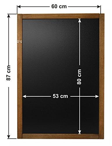Holztafel Werbetafel Speisetafel Aufsteller Werbungstafel Kreidetafel 3 Größe! (Groß 87 x 60 cm)