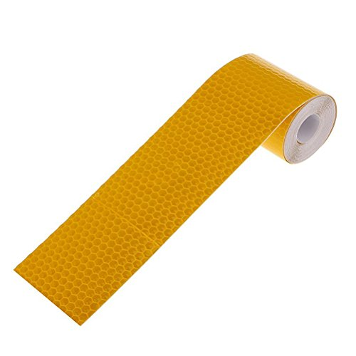 Tinksky 3M Reflective Safety Warning Conspicuity Tape Film Sticker (Golden Yellow)