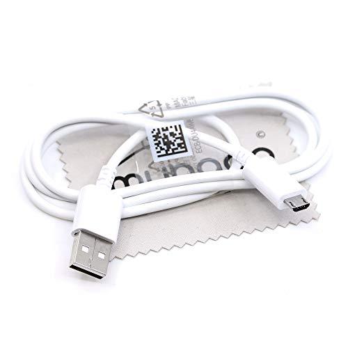 Ladekabel für Original Samsung Daten Kabel für Samsung Galaxy A3 2016, A5 2016, A7 2016, A7 2018 Kabel Daten PC Datenkabel USB Micro USB 1m mit mungoo Displayputztuch