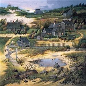 Charles Wysocki - Olde Nantucket podpisany i ponumerowane z certyfikatem Rozmiar obrazu 56 cm x 56 cm