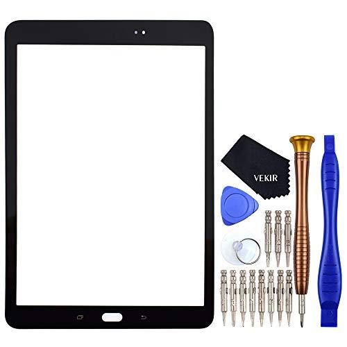 VEKIR Negro SM-T820 Reparación de Cristales de Pantalla reemplazo Compatible con Samsung Galaxy Tab S3 9.7