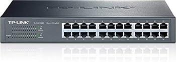 TP-Link 24-Port Gigabit Ethernet Unmanaged Switch   Plug and Play   Desktop/Rackmount   Fanless   Limited Lifetime  TL-SG1024D