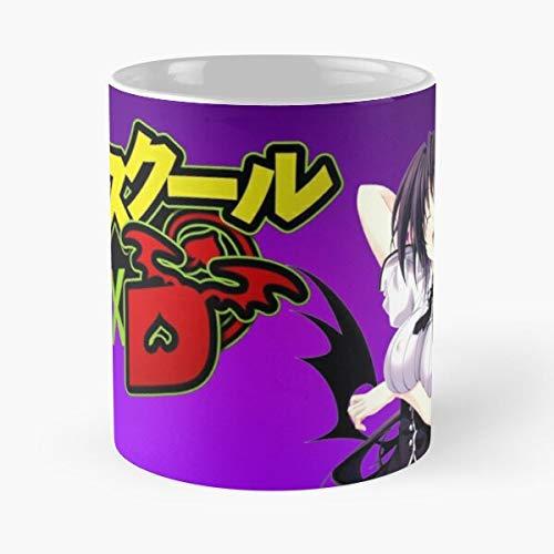 Akeno High Himejima Anime DxD Manga School Best Taza de café de cerámica de 315 ml Eat Food Bite John Best Taza de café de cerámica de 315 ml