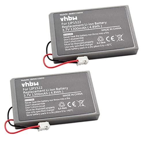 vhbw 2x Akku kompatibel mit Sony PS4 Dualshock Controller V1 Controller (1300mAh, 3,7V, Li-Ion)
