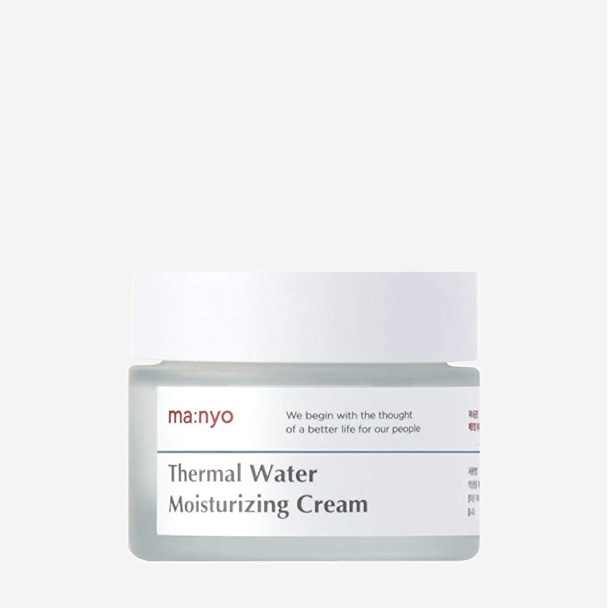 全部実施する請う魔女工場(Manyo Factory) 温泉水ミネラルクリーム 50ml / 天然ミネラル、チェコ温泉水67%で保湿補充