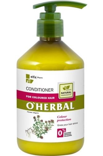 O'Herbal Acondicionador Cabello / Pelo Teñido Natural Ecológico Hidratante Sin Sulfatos Ni Siliconas Con Extracto De Tomillo O'Herbal 500Ml 500 ml