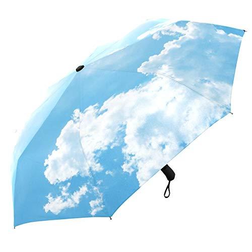 Regenschirm Einzigartiger Luxus-Sonnenschirm Männer DREI Klappbare Winddichte Regenschirme Regen Frauen Automatischer Offener Und Geschlossener Regenschirm