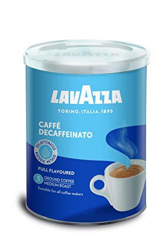 Lavazza Café Molido Espresso Dek Classico, Descafeinado, Paquete de 2 Latas x 250 g (Total 0,5 kg)